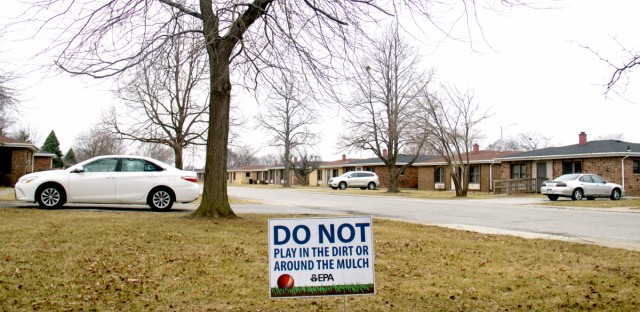 The West Calumet Housing Complex in East Chicago, Indiana, on Feb. 23, 2017. The public housing complex is being closed because of lead contamination in the soil around the homes.