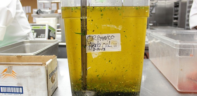 Organico herb oil by Levy Restaurants in United Center, Chicago
