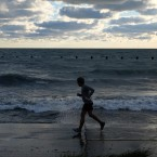 Runner near Lake Michigan