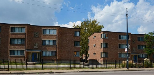 The Parkway Gardens apartments near 64th Street and King Drive in Chicago.