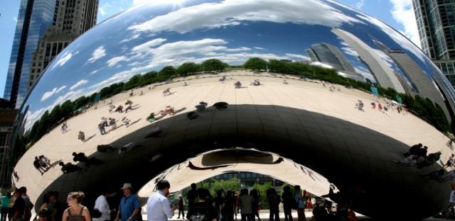 """Millennium Park, Cloud Gate : """" the Bean """" Anish Kapoor 2004-06"""