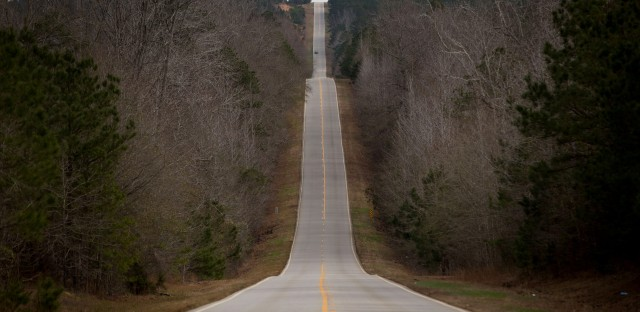Georgia Highway 27 cuts through rural Stewart County, a few miles outside Lumpkin, Ga.