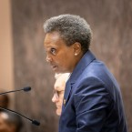 Mayor Lori Lightfoot, at City Council Meeting at City Hall last week, after the aldermen approved her debt reforms to the city sticker program.