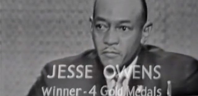 Jesse Owens on television in 1960