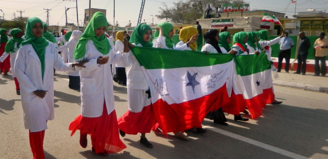 Women march in a procession to celebrate the 25th anniversary of proclaimed independence in the capital Hargeisa, Somaliland, a breakaway region of Somalia Wednesday, May 18, 2016. Somaliland is celebrating 25 years since the region proclaimed its independence and has experienced relative stability and economic prosperity over the years, even though Somalia has been wracked by deadly violence.
