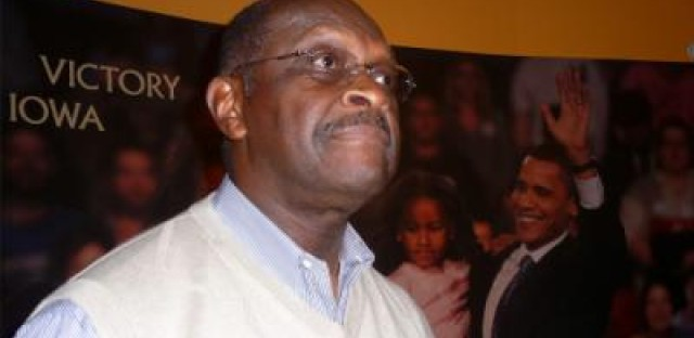 Herman Cain visits Iowa's African-American museum