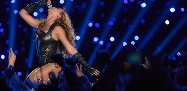 Beyoncé wows the crowd during Sunday's Super Bowl XLVII halftime show.