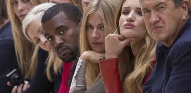 Kanye West during London Fashion Week 2011.