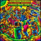 "Album cover of the 2018 remix compilation album released in collaboration with Galletas Calientes Records, ""Palenque Records AfroColombia Remix Vol​. ​2"""