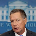 Ohio Gov. John Kasich speaks during the daily news briefing at the White House in Washington, Friday, Sept. 16, 2016. Kasich discussed the presidential campaign, TPP and other topics, following a meeting with the president in the Oval Office. (AP Photo/Carolyn Kaster)
