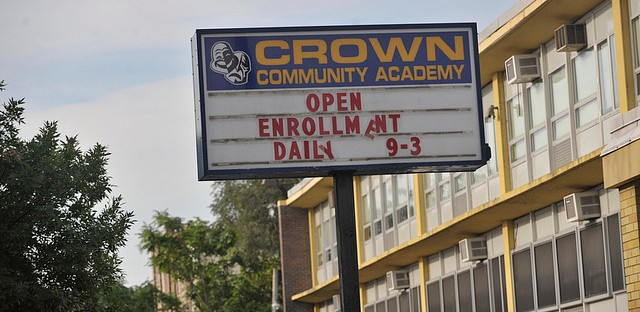 "Crown Elementary was not designated by the school district as a ""welcoming"" school, but it is getting over 83 students from four different closing schools. In all, students from closing schools are headed today to 287 different new schools."