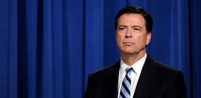 FBI Director James Comey, seen here during a news conference in Washington in 2014, was fired by President Trump from his position as FBI Director on Tuesday, May 9, 2017. (AP Photo/Susan Walsh)