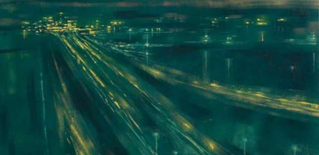 Richard Florsheim's 'Jet Landings' pictures the blue-green blow of Chicago street lights in the 1960s