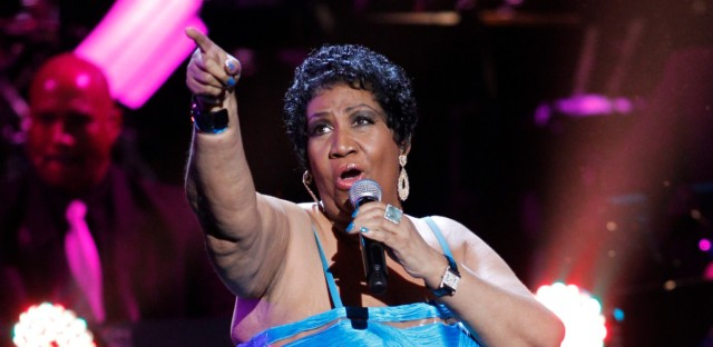 Aretha Franklin performsduring the BET Honors at the Warner Theatre in Washington on Jan. 14, 2012. Franklin died Thursday, Aug. 16 at her home in Detroit. She was 76.