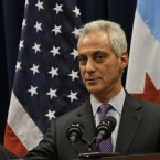 Chicago Mayor Rahm Emanuel speaks during a press conference on Wednesday, Jan. 25, 2017.