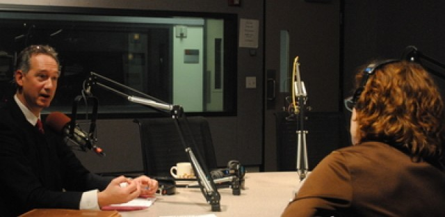 Inspector General Joe Ferguson speaks with Alison Cuddy about stamping out corruption in Chicago in this file photo from 2011.