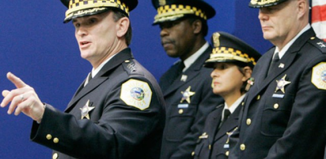 Chicago Mayor Richard Daley said Thursday that the city's police superintendent will stay on the job after his contract expires.