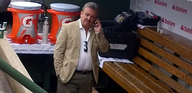 Los Angeles General Manager Ned Colletti at Wrigley Field in mid-May.