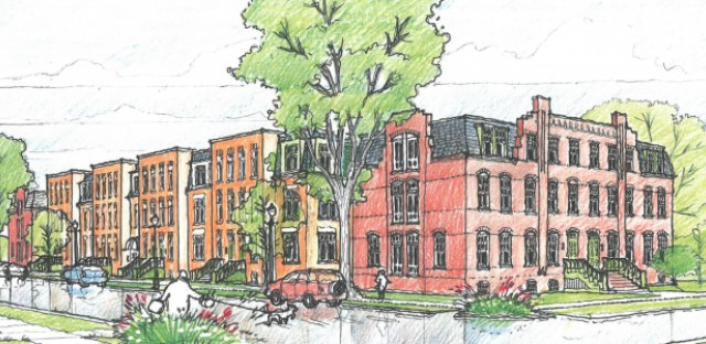Artist rendering of the proposed Pullman Artspace Lofts.