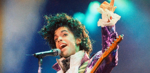 In this Feb. 18, 1985 file photo, Prince performs at the Forum in Inglewood, Calif. Prince's heirs have sued Walgreens and the Illinois hospital that treated the music superstar after he suffered from an opioid overdose, alleging that a doctor and various pharmacists failed to provide Prince with reasonable care, contributing to his death.