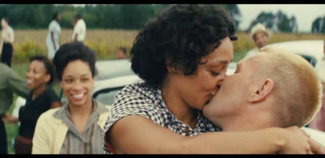 A still from the film 'Loving' which tells the story of the landmark Supreme Court case that overturned laws banning interracial marriage.