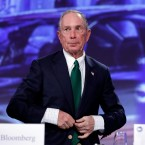 Michael Bloomberg arrives for the annual U.S. Conference of Mayors meeting, Monday, June 26, 2017, in Miami Beach, Fla.