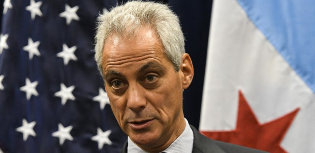 Chicago Mayor Rahm Emanuel speaks during a press conference in Janary.