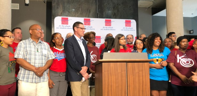 Chicago Teachers Union leaders on Wednesday Aug. 8, 2018 announced plans to make 20 schools into community hubs with $10 million in support from Chicago Public Schools. The union got the school district to agree to this effort during contract negotiations three years ago.