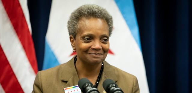 Mayor Lori Lightfoot speaks to reporters after presiding over the Chicago City Council meeting at City Hall on Wednesday, June 12, 2019.