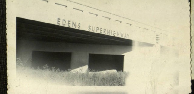 The Edens Expressway opened in 1951. It took much of the car traffic from U.S. 41, leaving the motels hanging. Click on the image to flip through a scrapbook of the Interstate's opening.