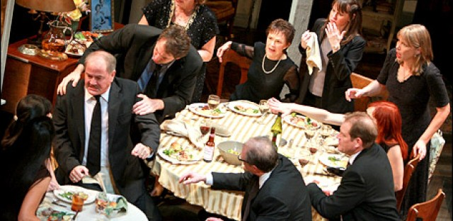 "Tracy Letts' ""August Osage County"" on Broadway. The film version, starring Meryl Streep, premieres November 8."