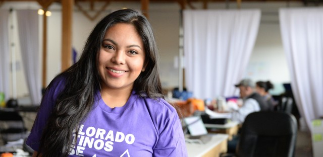 Ana Temu of Colorado Latinos Rise, a progressive political action committee, says her campaign polled over 17,000 Latino voters this year about issues that matter to them.