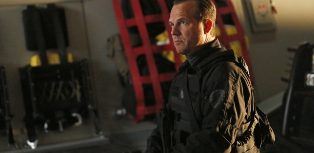 Bill Paxton as John Garrett on Marvel's Agents of S.H.I.E.L.D. in 2014. Garrett perished in the finale of the show's first season, a thing Paxton always did with style.