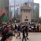 Black Lives Matter protesters on Michigan Avenue.