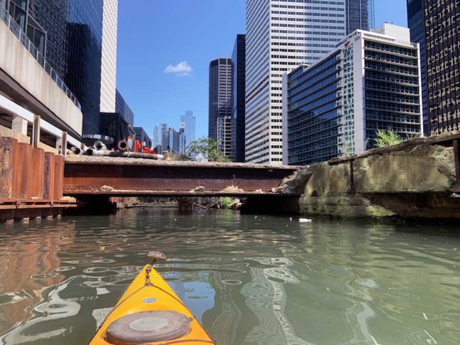 Kayaking the Chicago River
