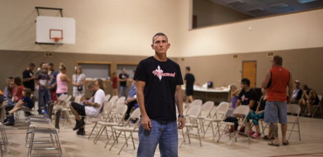 Jonathan Guffey, 32, has spent more than half his life hooked on opioids. He currently works with his family in construction, but his job history is pockmarked by addiction.
