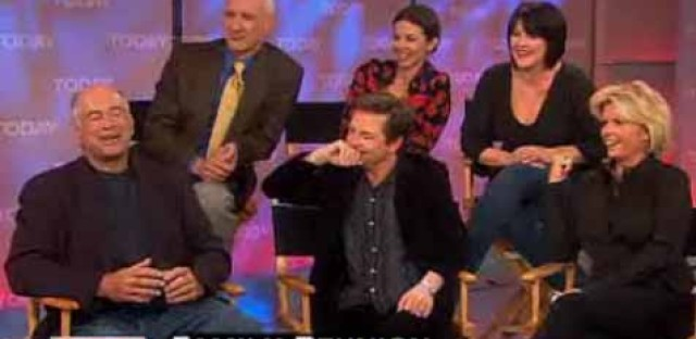 The cast of 'Family Ties' reunites on the Today Show in 2007.