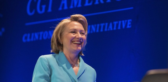 """Hillary Clinton has defended the Clinton Foundation against allegations that it was a front for a """"pay to play"""" scheme while she was secretary of state."""