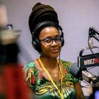 "Award-winning science fiction writer and ""Blessing in Disguise"" short comic creator Nnedi Okorafor visits WBEZ on Friday, Oct. 6, 2017."