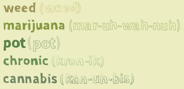 Slang terms for marijuana - final