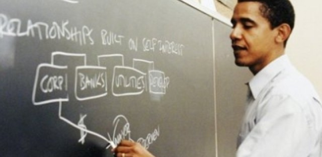 Mr. Obama taught at the University of Chicago's law school from 1994 through 2004.