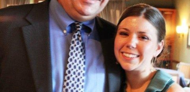 Lindsay Van Sickle with her father. Prior to his suicide, Van Sickle says her father was outgoing and the life of the party.