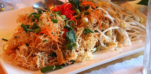 Mee Krob at Royal Thai Consulate dinner, Sticky Rice in Chicago