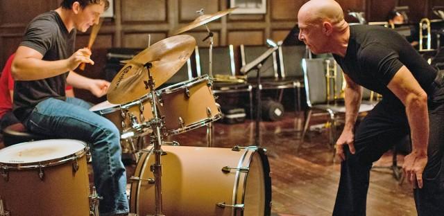 Miles Teller and J.K. Simmons in 'Whiplash.'