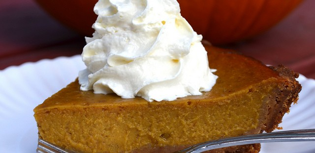 Pumpkin pie with whipped cream only at Bang Bang