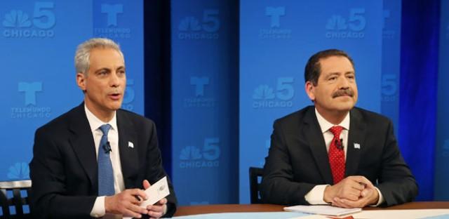 Garcia, Emanuel battle in heated first debate of runoff