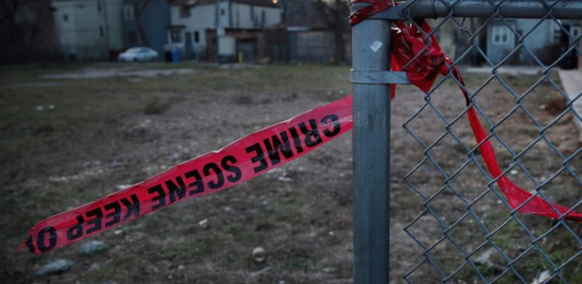 "Crime scene tape hangs in front of a vacant lot where a shooting occurred in December. President Trump tweeted last night about Chicago gun violence, saying he'll ""send in the Feds"" if the city doesn't fix the carnage."