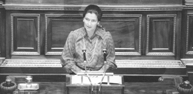 "French politician Simone Veil speaks about abortion while she was health minister in 1974. The legislation that legalized abortion in France is still known as ""Veil's law."""