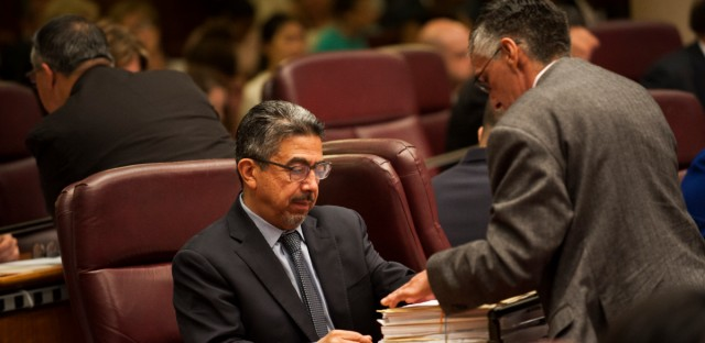 File: Chicago Ald. Danny Solis at City Hall on July 25, 2018.