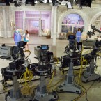 An undated image shows recording equipment at QVC Studio Park in Pennsylvania. The TV shopping network has announced plans to merge with its rival, Home Shopping Network.